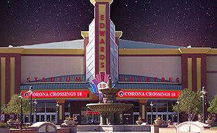 Movie Showtimes and Movie Tickets for Edwards Corona Crossings Stadium 18 & RPX located at Tuscany Street, Corona, CA.